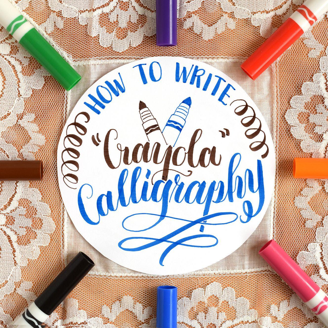 How To Write Crayola Calligraphy The Postman S Knock