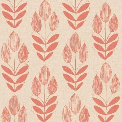 Scandinavian red block print tulip wallpaper sample block prints scandinavian red block print tulip wallpaper sample sisterspd