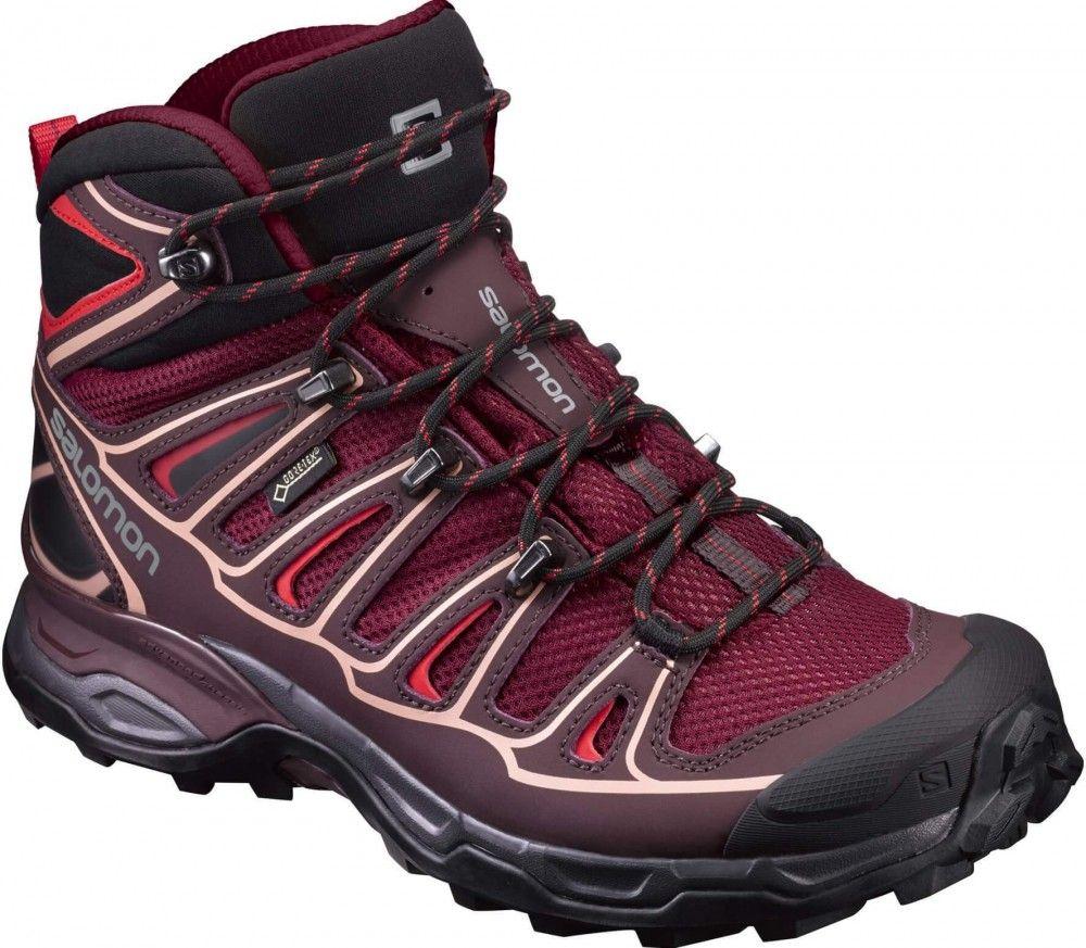 1e5466596b7a Salomon - X Ultra Mid 2 GTX® women s hiking shoes (red grey ...