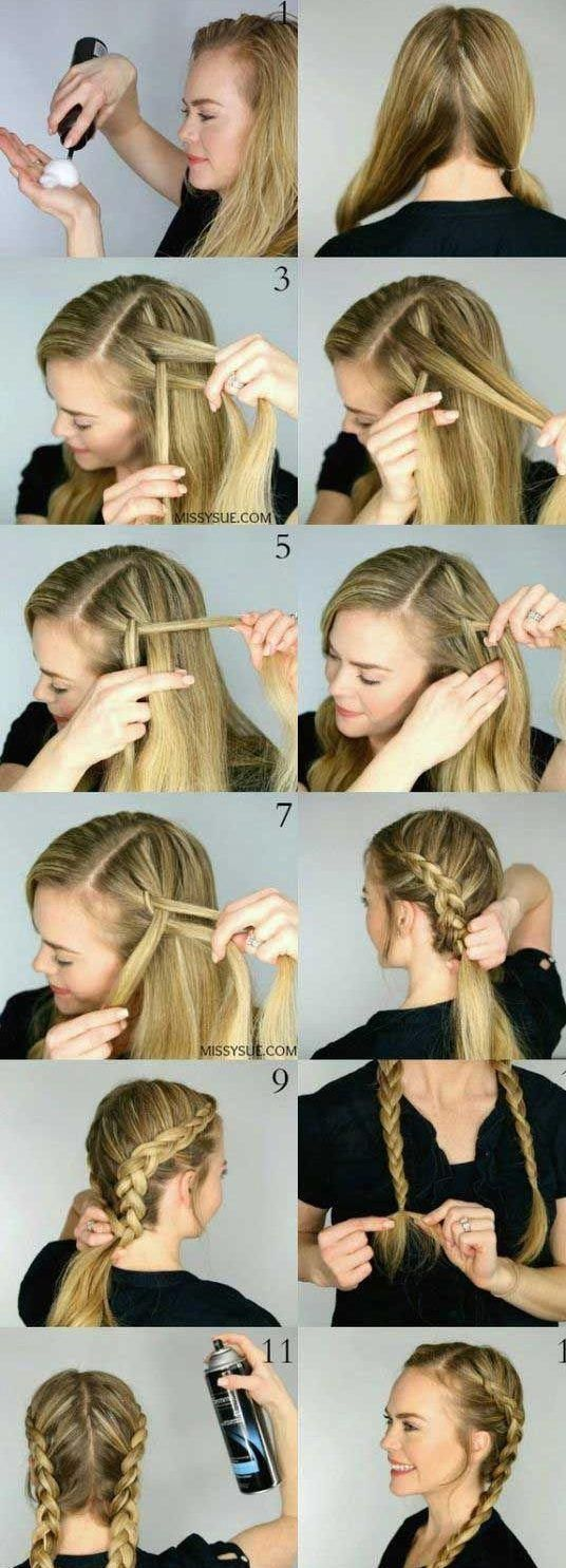 30 French Braids Hairstyles Step By Step How To French Braid Your Own French Braids Hairstyles Ste French Braid Hairstyles Braiding Your Own Hair French Hair