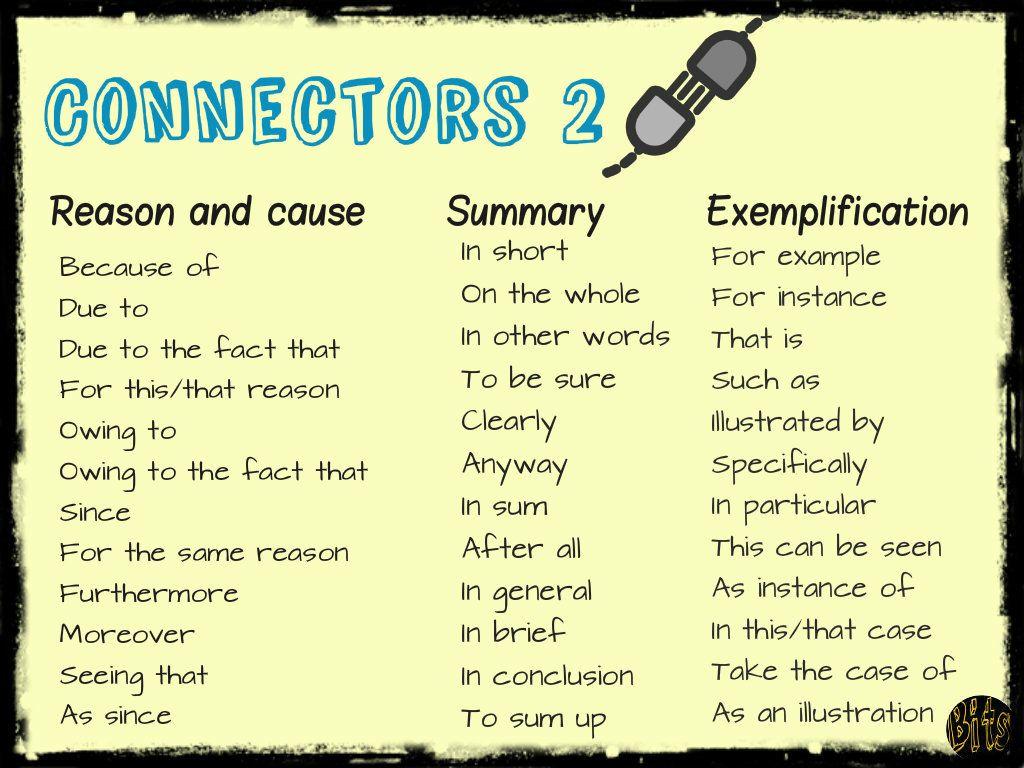 English Connectors Esl