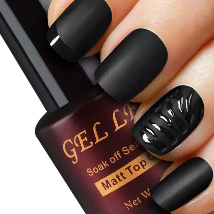 Gellen Matte Top Coat for Gel Nail Polish Nail Art Long Lasting, Non ...