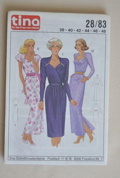 Vintage Schnittmuster - Vintage-Schnittmuster Tina 28/83 Kleid von ...