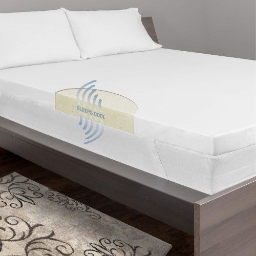 Dream Serenity 3 Cool Breeze Memory Support Mattress Topper Beige Blue Mattress Topper Mattress Bed Bath And Beyond
