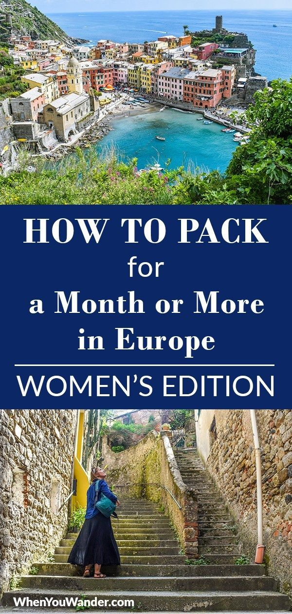 Packing List for Long Term Travel in Europe   Women's Edition is part of Packing List For Long Term Travel In Europe Womens Edition - Packing List for Long Term Travel in Europe   Women's Edition  Whether you're planning a 2week vacation, a month abroad, or longer travels, use this packing list for everything you need to know about choosing luggage, how to organize your bag, and what to pack