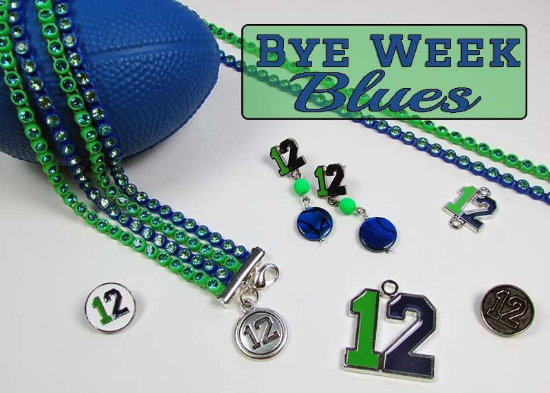 My favorite football team may be on bye this week but you know I would never let that stop me from showing my team spirit!  Did you know Shipwreck Beads carries an exclusive line of 12 charms, pend…