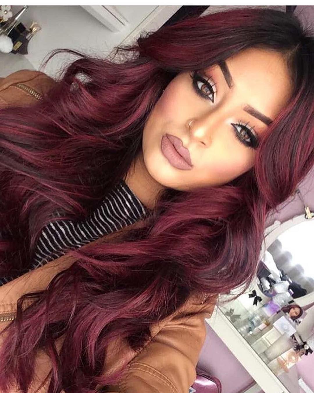 Burgundy amaze hair pinterest princess hair dark auburn and