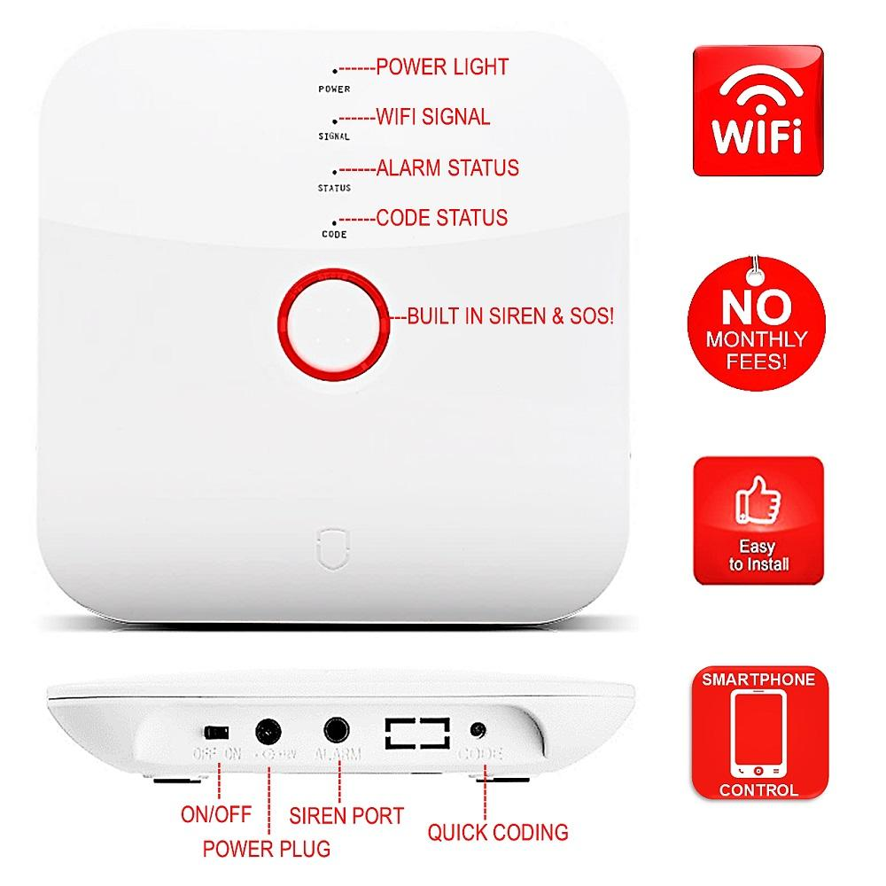 Wireless Home Security System Diy Alarm System With Cameras Wireless Home Security Systems Wireless Home Security Home Security Systems