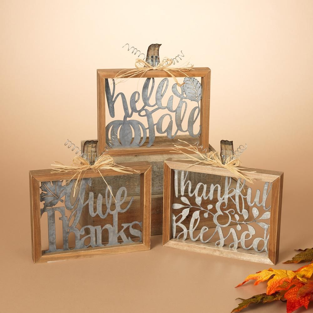 Wood And Metal Harvest Sign Wall Decor Assorted Metal Signs Decor Wall Signs Decor Wall Signs