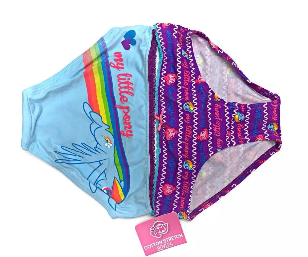 fa97247eb658 My Little Pony Tagless Boyleg Girls Underwear/Panty 2 Size S Cotton Stretch  NWT | eBay