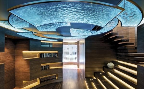 faszinierende moderne Architektur-Glasdecke Haus
