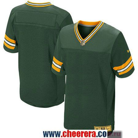 00ceb3a40 Men s Green Bay Packers Blank Green With Gold Stitched NFL Nike Elite Jersey