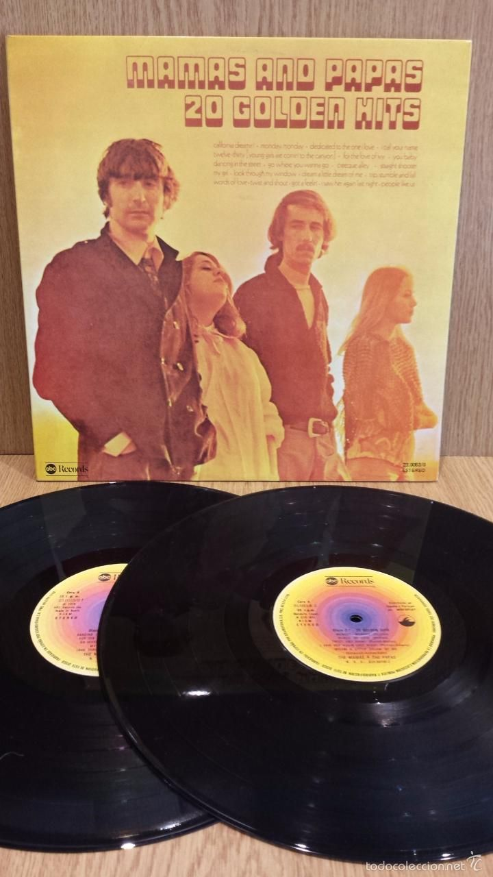 THE MAMAS & THE PAPAS. 20 GOLDEN HITS. DOBLE LP-GATEFOLD / ABC RECORDS - 1976 / MBC. ***/***