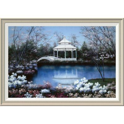 """Global Gallery 'Now and Forever' by Diane Romanello Framed Painting Print Size: 28"""" H x 40"""" W x 1.5"""" D"""