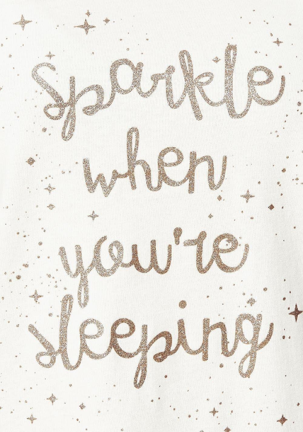 Tesco direct: F&F Sparkle Slogan Pyjamas | Decor & print