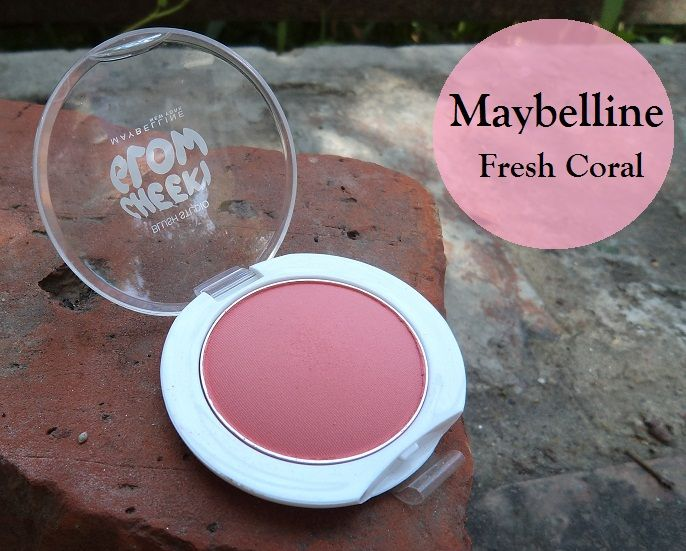 Maybelline Cheeky Glow Blush Studio Fresh Coral Swatches, Review and FOTD
