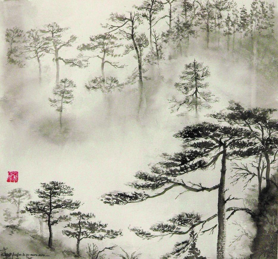 Robert faure arbres trees en 2018 pinterest peinture chinoise peinture et peintre japonais - Dessin arbre chinois ...
