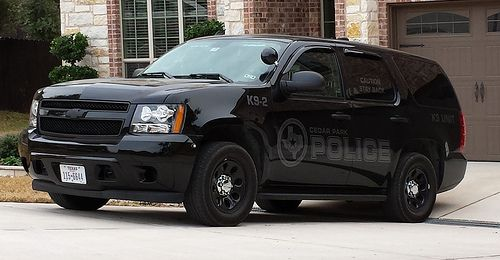 Cedar Park Tx Police K 9 Unit Slicktop Chevy Tahoe Ppv With