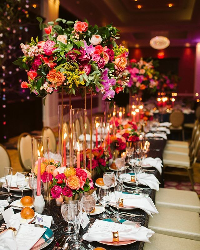 Bright And Colorful Wedding Reception In 2020