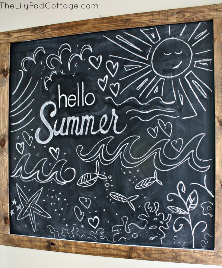 summer chalk recherche google chalkboard art pinterest