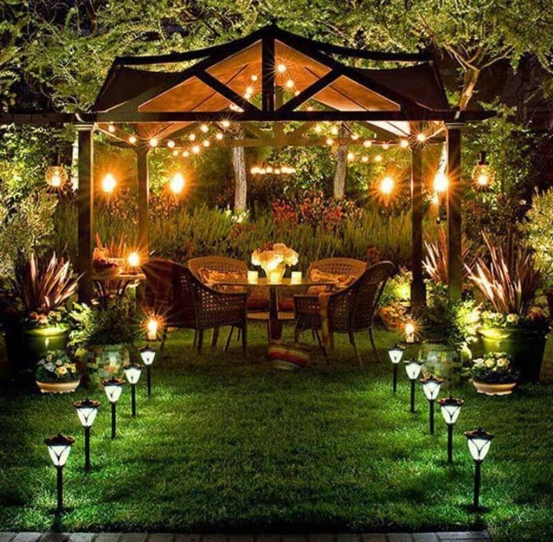 Outdoor Gazebo Lighting Beauteous Gazebo Lighting Decoration Inspiration Solar Pathway Lighting