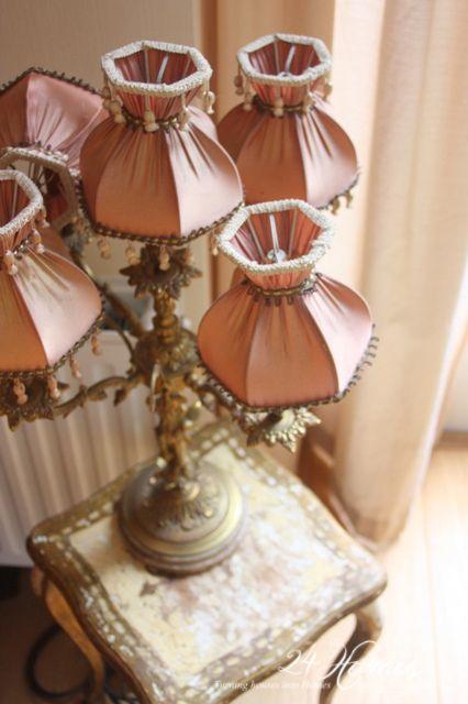 Cute antique lamp pink