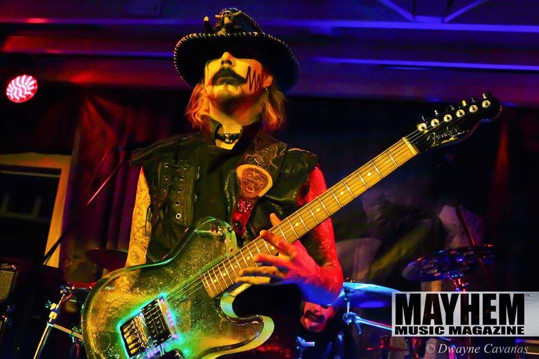 John 5 of Rob Zombie during his solo tour in San Francisco - photo by Dwayne Cavanas for Mayhem Music Magazine