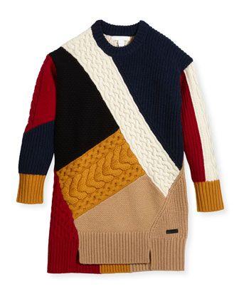 0c2c2d65b9 Claire Colorblock Mixed-Knit Sweater Dress