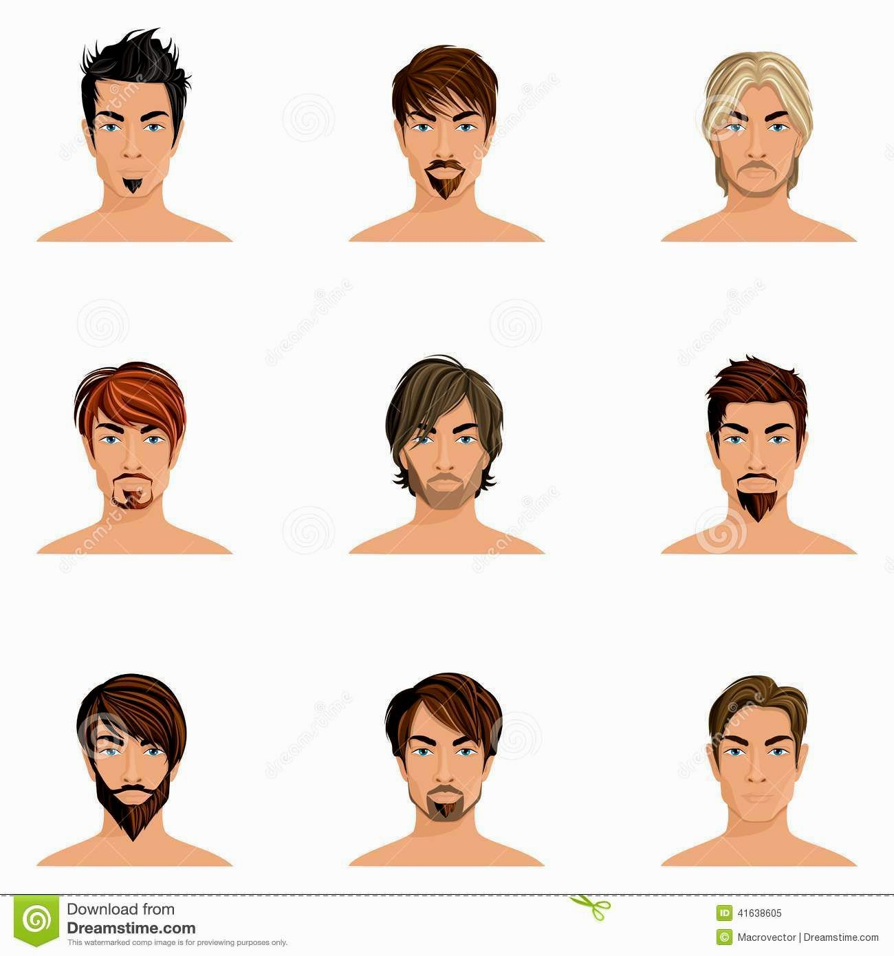 Men Hairstyles Illustration Hair styles, Illustration
