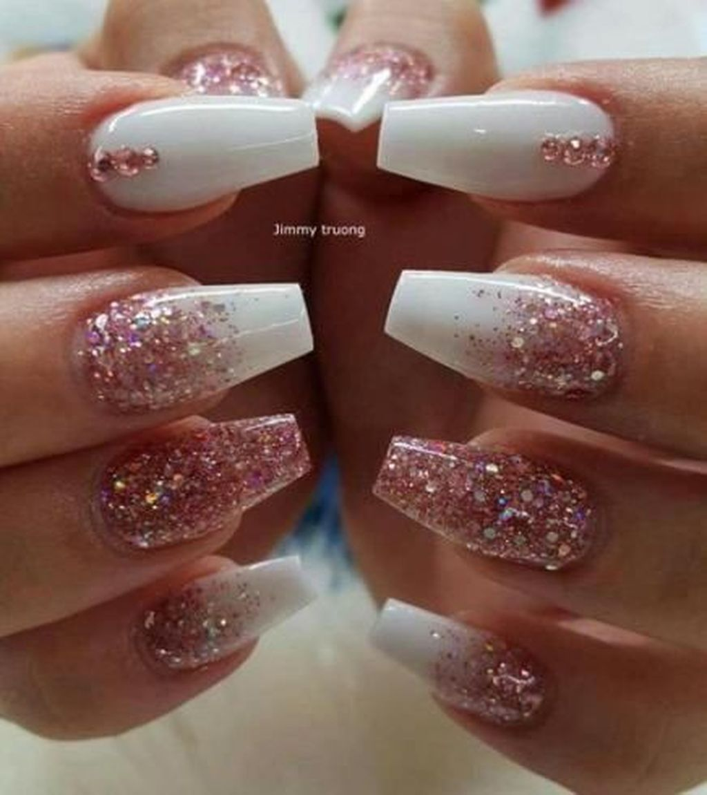 42 Fashionable Pink And White Nails Designs Ideas You Wish To Try Addicfashion Cute Acrylic Nails Dream Nails Nail Designs