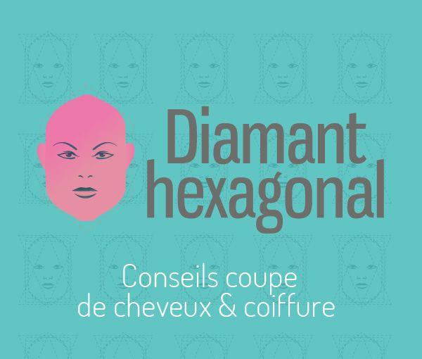 Visage Exagonal ou diamant coupe et coiffure pour femme