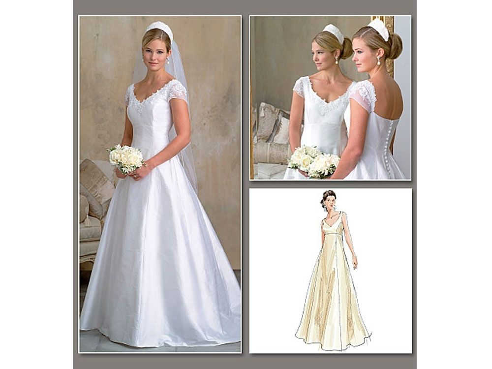 Schnittmuster Vogue 2788 Brautkleid | Patterns