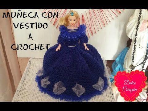Vestidos de novia para barbie a crochet