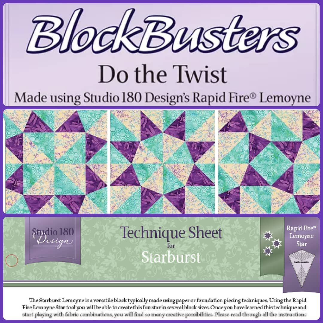Studio 180 Design Technique Sheet for Cyclone Quilting Blocks