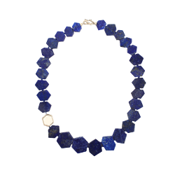 Lapis Woolly Mammoth Necklace