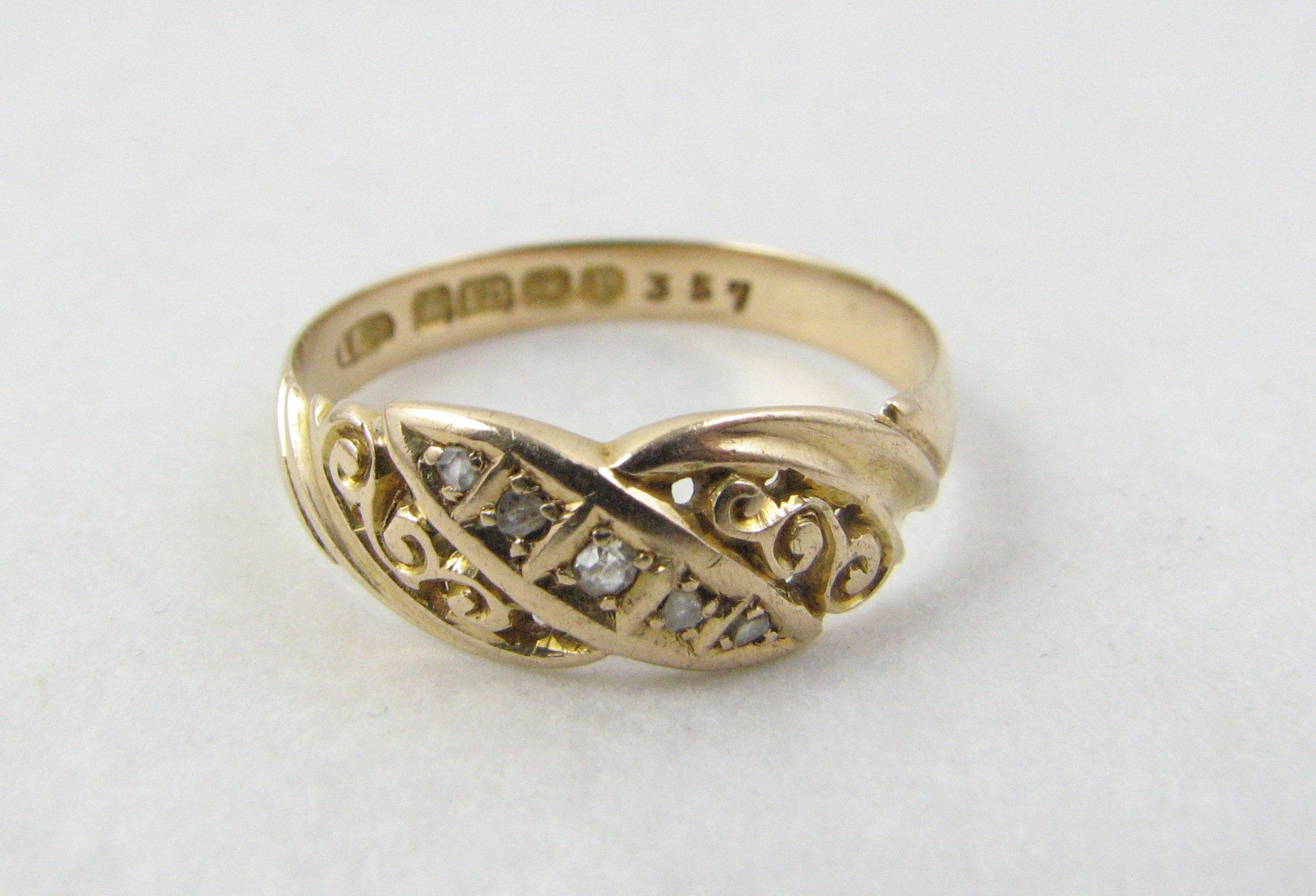 Antique Loach Brothers 18 Ct Gold Ring With Decorative Scroll Etsy Antique Gold Rings Birmingham Jewellery Quarter Gold Rings