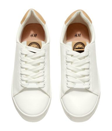 fb53db69180 Product Detail | H&M US | Shoes | H&m shoes, Sneakers och White flat ...