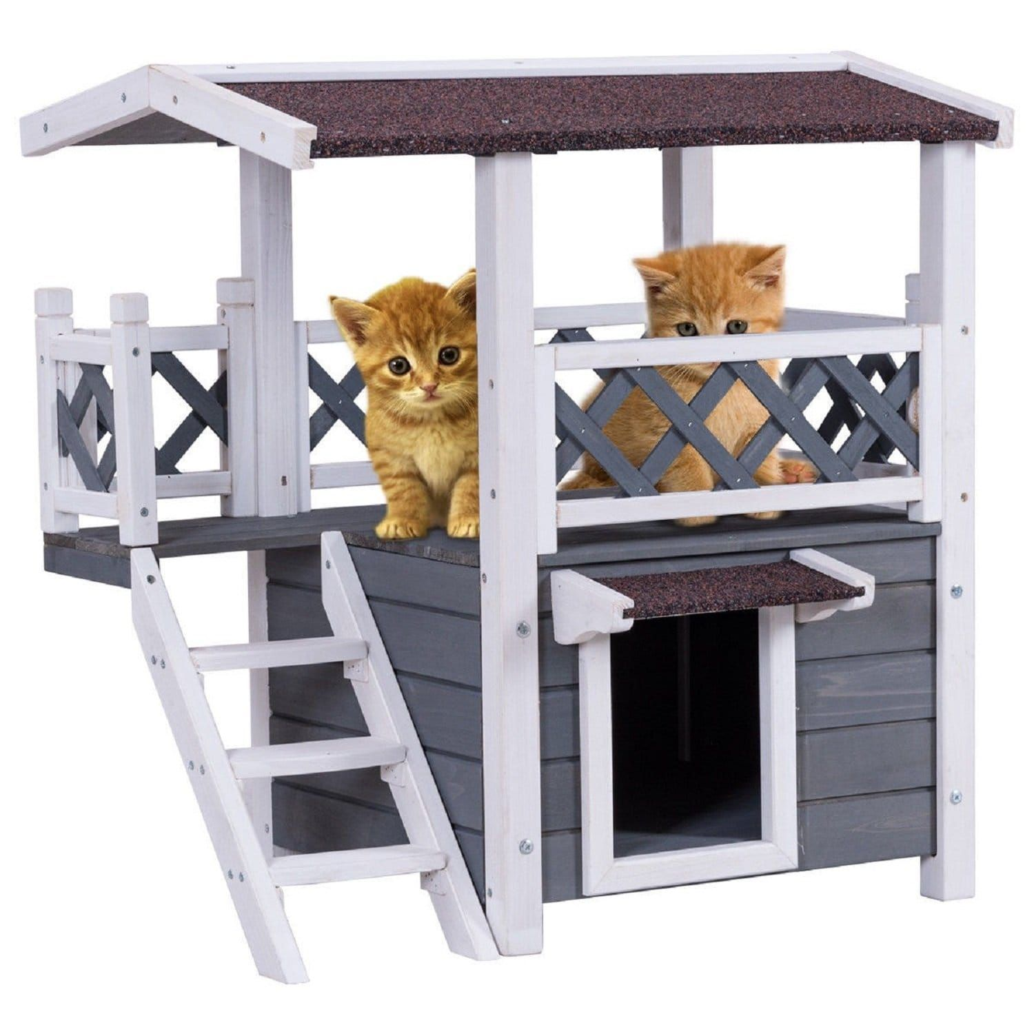 Styles Daddy The Internet S Mart Wooden Cat House Wooden Cat Outdoor Weatherproof