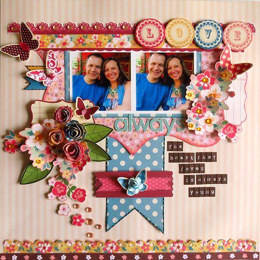 Layout Love Always Scrapbook Designs Scrapbooking Layouts Summer Scrapbook