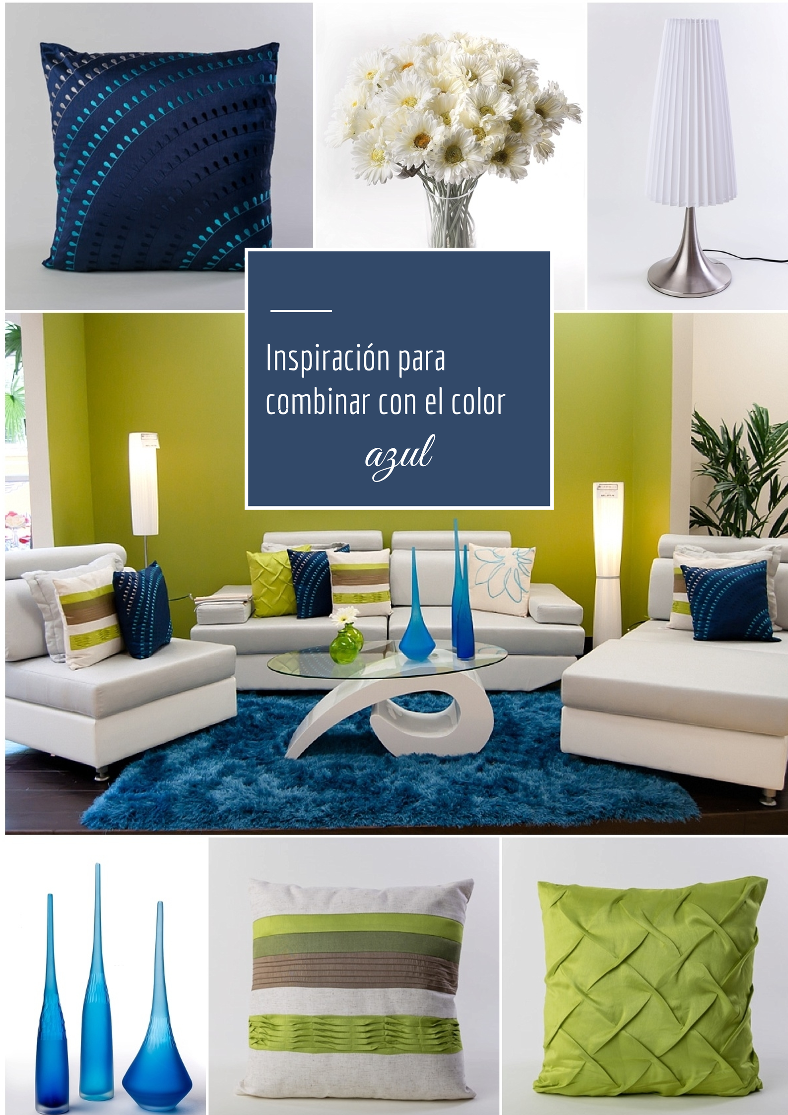 Ideas Para Combinar Con El Color Azul Www Casafebus Com Decoracion De Unas Decoracion De Interiores Decoracion Hogar