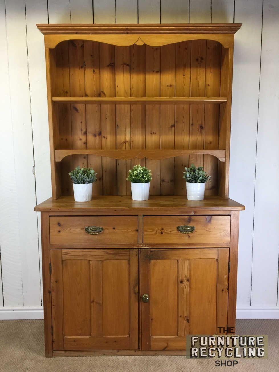 Farmhouse pine dresser solid wood rustic welsh dresser kitchen storage