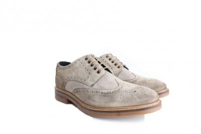 Base London Woburn Suede Linen Lace Up Brogue, from http://www.ApacheOnline.co.uk