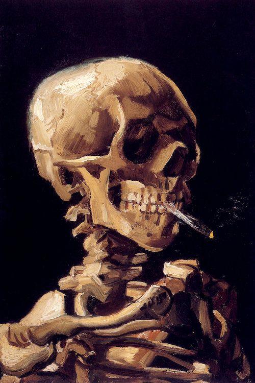 Vincent van Gogh - Skull of a Skeleton with Burning Cigarette (1885)