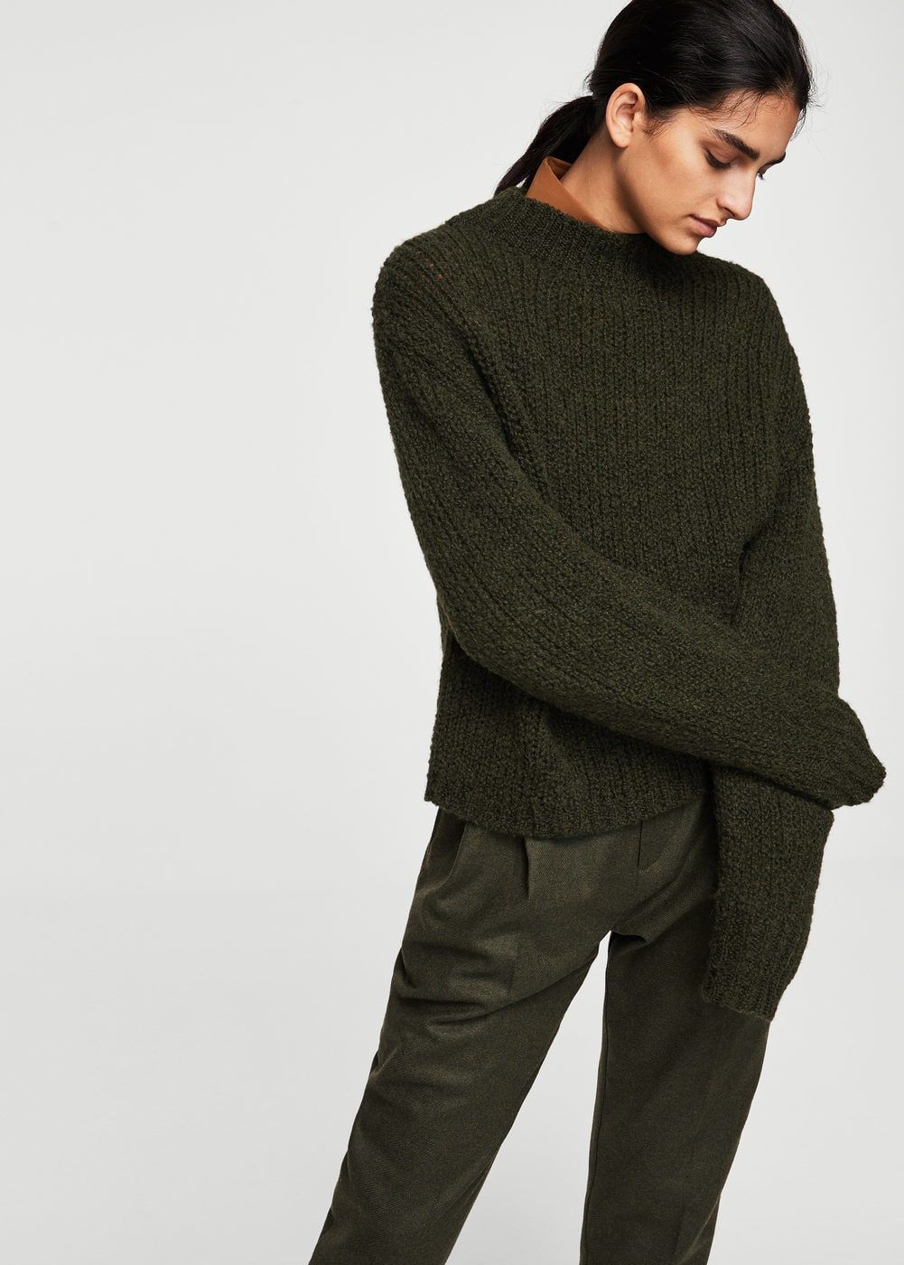 High collar wool sweater - Woman | MANGO United Kingdom