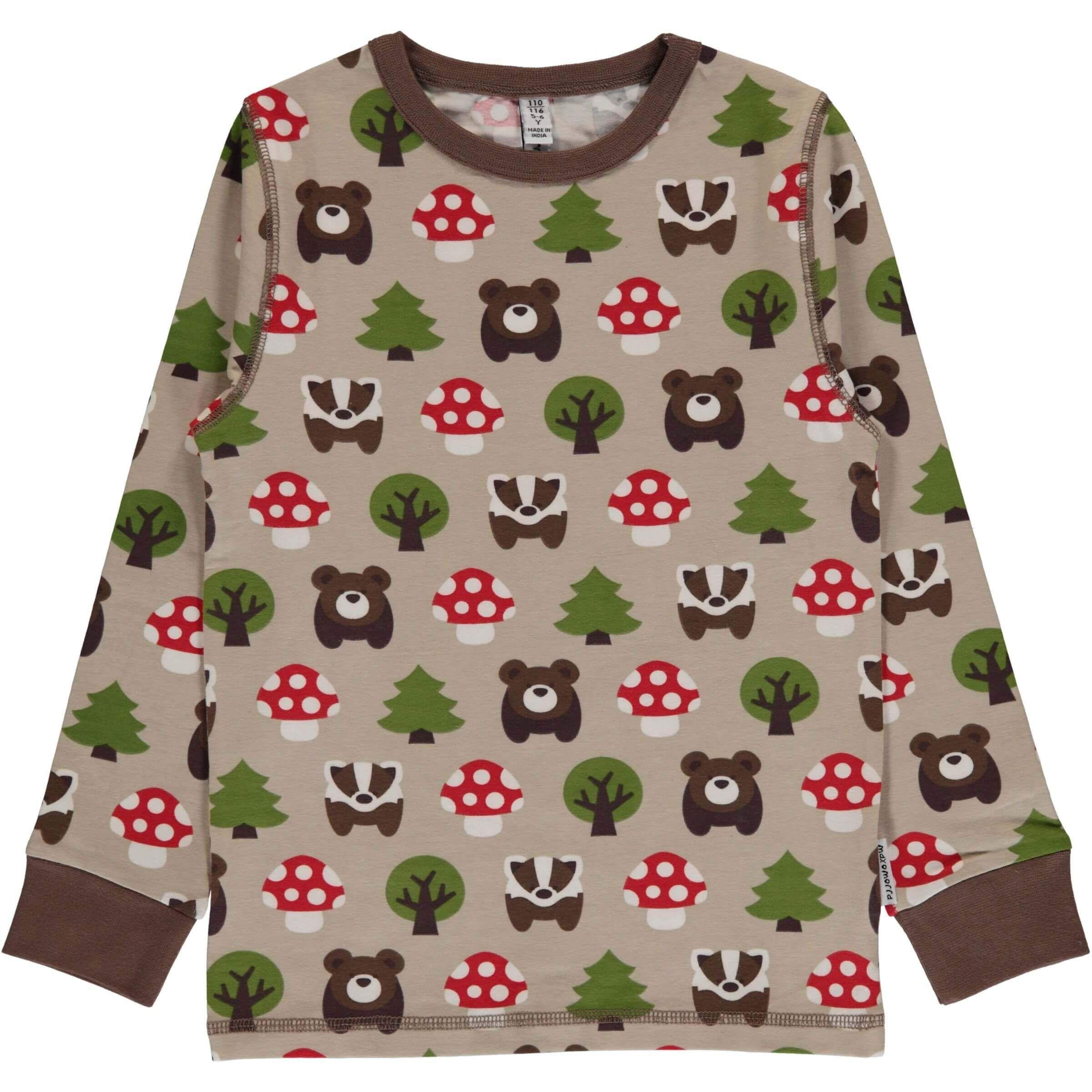 Forest Long Sleeve Shirt Modern Rascals From Maxomorra A Swedish Children S Clothing Compa Organic Kids Clothes Scandinavian Kids Clothes Shop Kids Clothes