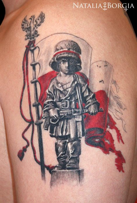 Little Insurgent Monument Tattoo Polish Patriotic Wzory