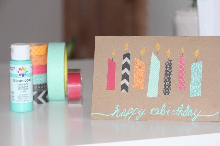 washi tape geburtstagskarten basteln karten diy pinterest geburtstagskarte basteln. Black Bedroom Furniture Sets. Home Design Ideas