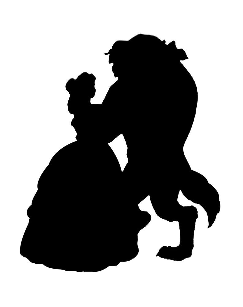 beauty and the beast crafts beauty the beast silhouette beauty