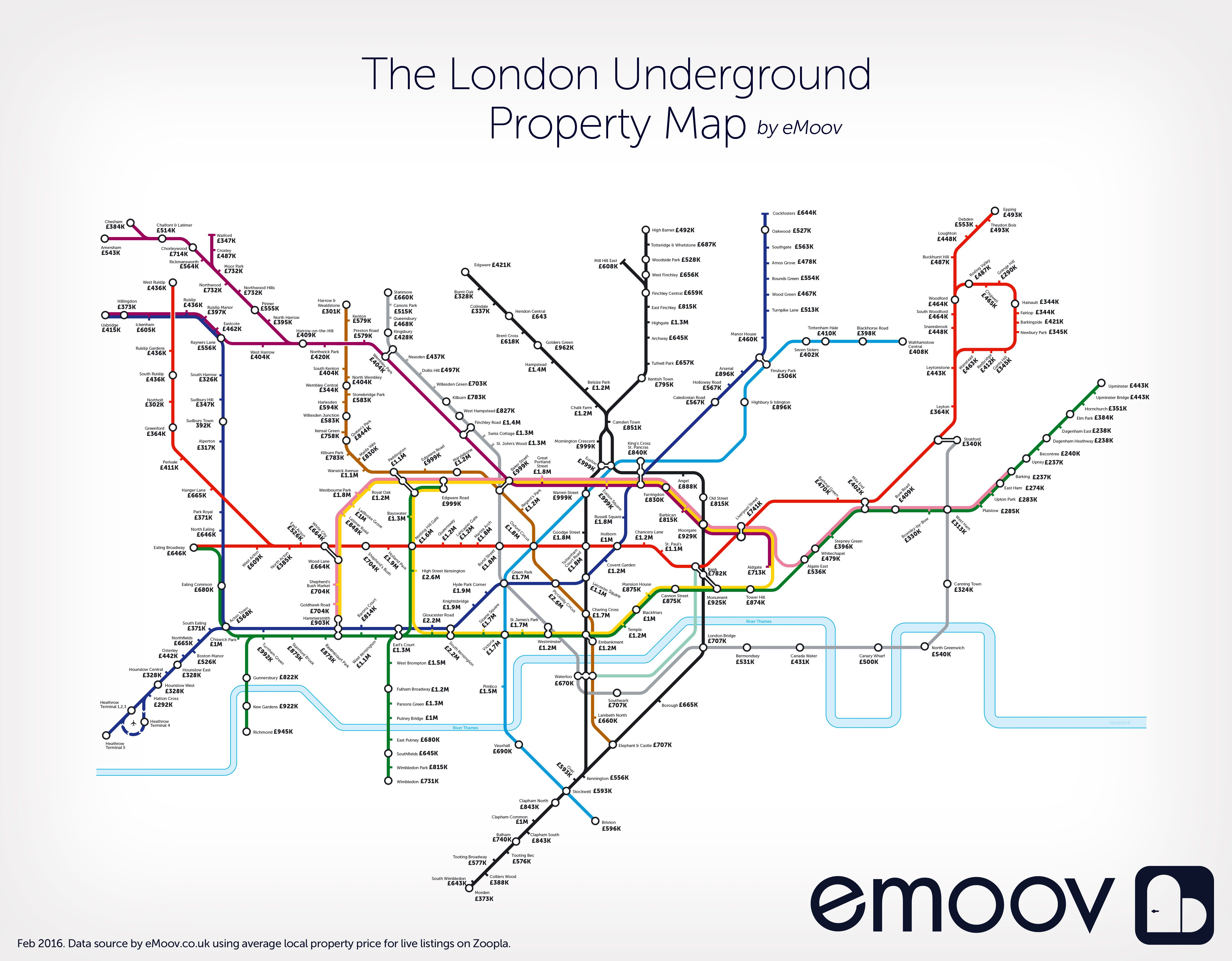 An Interesting View Of London House Prices On An Underground Tube