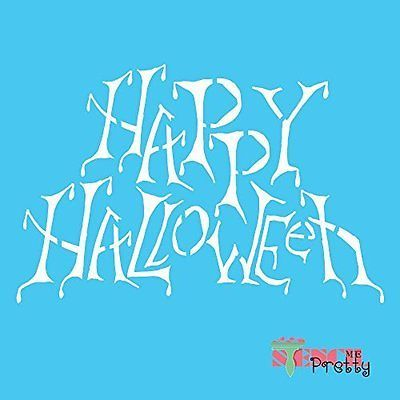 Embossing Stencils and Folders 84009 Stencil - Happy Halloween